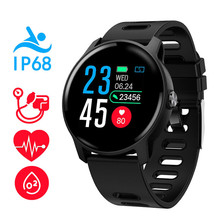 S08 inteligentny zegarek Ip68 wodoodporny tętno inteligentny zegarek do monitorowania smartwatch Bluetooth Monitor aktywności fizycznej zespół
