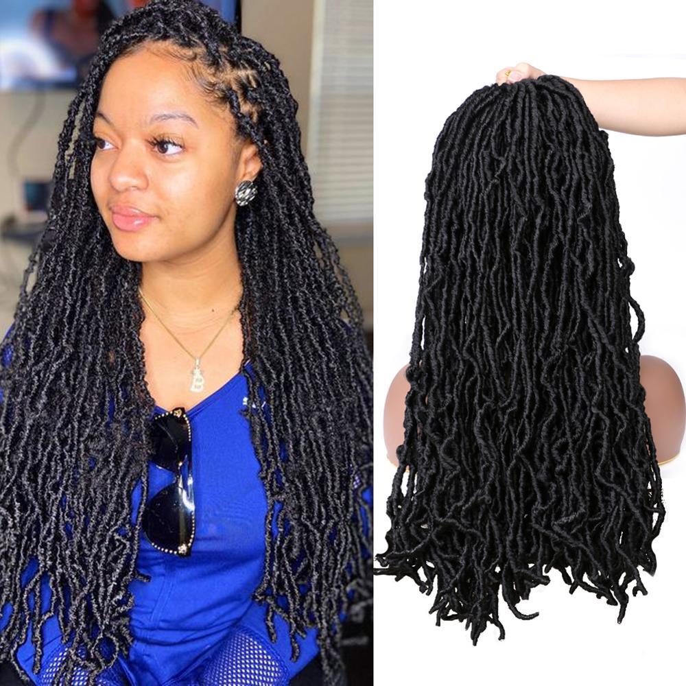 Saisity Ombre Dreadlocks Synthetic Crochet Braiding Hair 21 Strands Extensions Goddess Faux Loks  Crochet Braids Hair