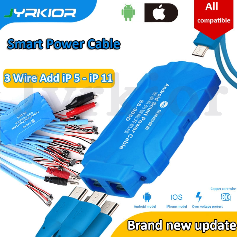 SS-905D For IPhone 6S/7/8/X XS MAX XR 11 Pro Max Samsung Huawei Phone Power ON/OFF Service DC Power Supply Current Testing Cable