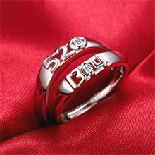 цена Lover's Rings Set For Men Women S925 Sterling Silver Number Finger Ring Wedding Band Engagement Jewelry Accessories Gifts онлайн в 2017 году