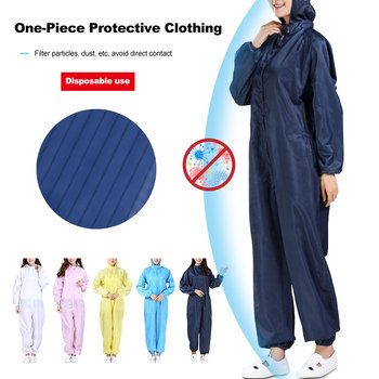 Protective Equipment Epidemic Prevention Isolation Clothing  Antistatic  Dust-free  One-piece Protective Clothing with Hoods