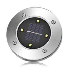 Наземный светильник на солнечных батареях 4 светодиодный водонепроницаемый солнечный светильник энергосберегающий светильник для дорожки двора домашний сад лужайка дорога шпилька