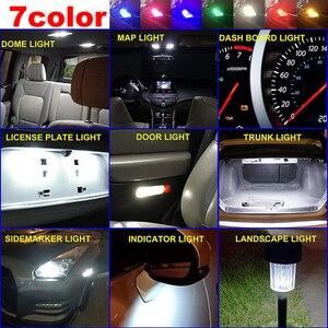 T10 светодиодный светильник s 2/10 шт. W5W 194 Стекло Корпус светодиодный светодиодные лампы автомобиль белые зеленый синий и красный цвета фонарь освещения номерного знака купол светильник 7 цветов авто Универсальный|Сигнальная лампа|   | АлиЭкспресс
