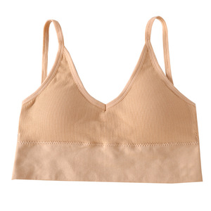 Image 3 - 2020 New Sports Bra Without Steel Ring Fashion Sports Gathering Sexy Beautiful Back Wrapped Chest Ladies Underwear Thin Cotton C