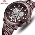 NAVIFORCE Herren Uhren Luxus Marke Mode Lässig Quarz Armbanduhr Männer Voller Stahl Sport Wasserdichte Uhr Relogio Masculino