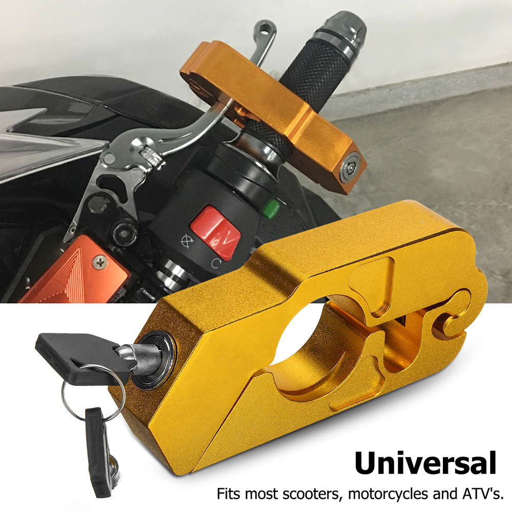 Motorcycle Handlebar Lock Brake Clutch Security Safety Theft Protection Lock With 2 Keys