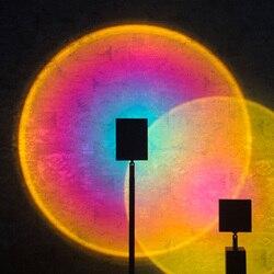 Lampe de Projection salon personnalité créative fond décoration murale lampadaire de Projection verticale arc-en-ciel lumière