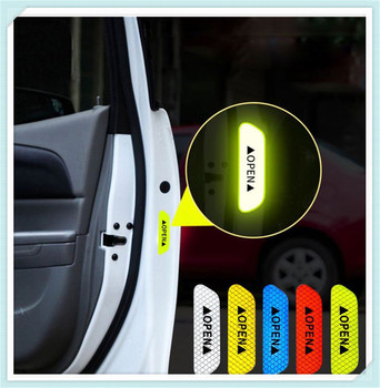 4Pcs/Set Car Door Stickers DIY auto OPEN Reflective Tape for BMW 530d 130i 330e M235i 520d 518d 428i Compact image