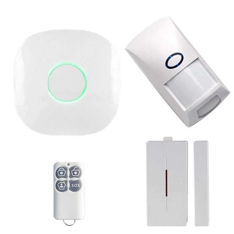 ABKT-Wireless 433 GSM SMS WiFi Smart Voice Home House Office Security Burglar Alarm Systems Kit