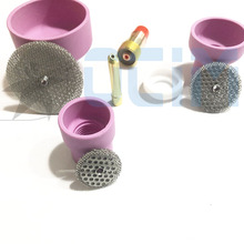 Tig tocha de soldagem bico anel capa lente gás copo vidro kit para wp17/18/26 soldagem acessórios kit ferramenta