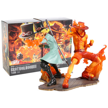 One Piece Stampede Brotherhood III Sabo & Ace PVC Figure Collectible Model Toy 2pcs/set 1
