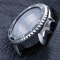 Caja de reloj de acero inoxidable de cristal de zafiro 316L, bisel de cerámica, caja de resistencia al agua de 20Bar, adecuada para movimiento NH35A/NH36A