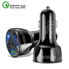 Quick Charge 3.0 3 Port USB Car Charger for iPhone 11 Pro Max Xiaomi Samsung Huawei QC3.0 Fast Charging Mobile Phone Car Charger new car usb charger quick charge 3 0 2 0 mobile phone charger 2 port usb fast car charger for iphone samsung tablet car charger
