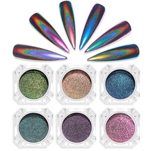 Holographic Laser Powder Rainbow Nail Art Glitter Chameleon Chrome Powder Pigment Manicure Nail Gel Polish Glitter Dust I034 10g holographic nail powder laser nail glitter dust diy manicure for gel polish chrome pigment powder nail art decoration set