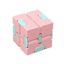 Jouets Fidget décompresser le bout des doigts pour enfants, Portable léger, carré magique anti-stress, jouets Puzzle cube infini, jouets sensoriels