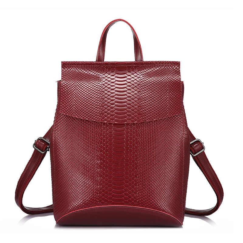 REALER sırt çantası kadın omuz çantaları seyahat çantası bölünmüş deri sırt çantaları büyük kapasiteli sırt çantaları moda messenger