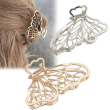 Women Girls Large Size Geometric Hair Claw Clamps Metal Butterfly Shape Hair Claw Clip Hairpin Hair Accessories