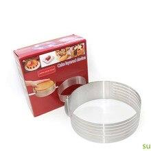 調整可能なケーキカッタースライサーステンレス鋼ラウンドパンケーキスライサーカッター型ケーキツール diy キッチンベーキングアクセサリー