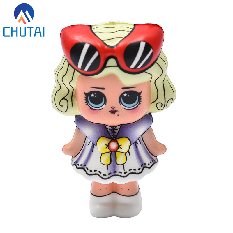 Kawaii Cartoon Doll Girls Squishy Cream Scented Squishies Slow Rising Fun Kids Antistress Toy Squeeze Stress Relief Toy 12*6 CM