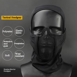 Image 3 - Tactical Full Face Mask Balaclava Cap Motorcycle Army Airsoft Paintball Headgear Metal Mesh Hunting Protective Mask