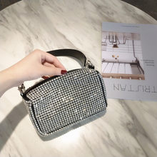 Bling Bling Women Evening Clutch Bag New Soft Pillow Small Tote Handbag Shoulder bags Ladies Dinner Party Clutch Purse(China)