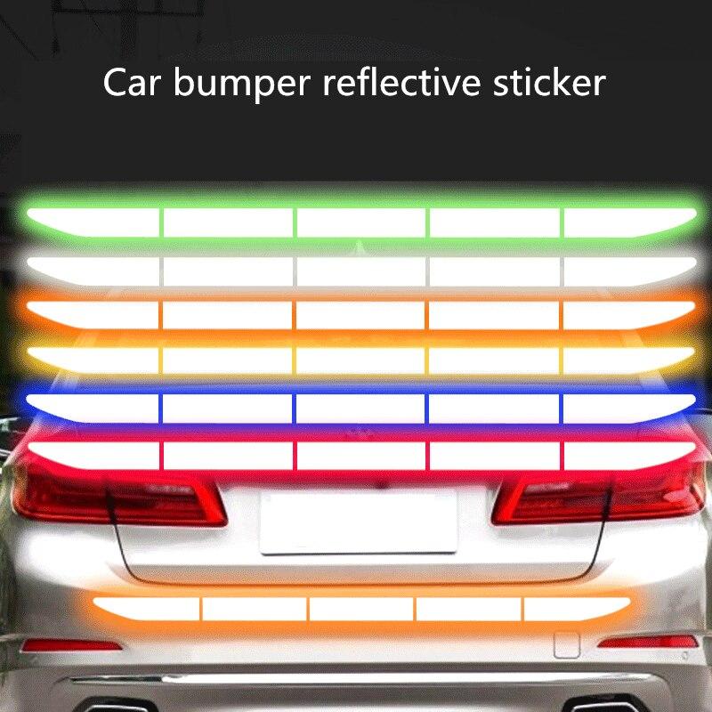 Réflecteur réfléchissant autocollant voiture accessoires extérieurs adhésif bande réfléchissante réflexe extérieur bande d'avertissement protéger la carrosserie