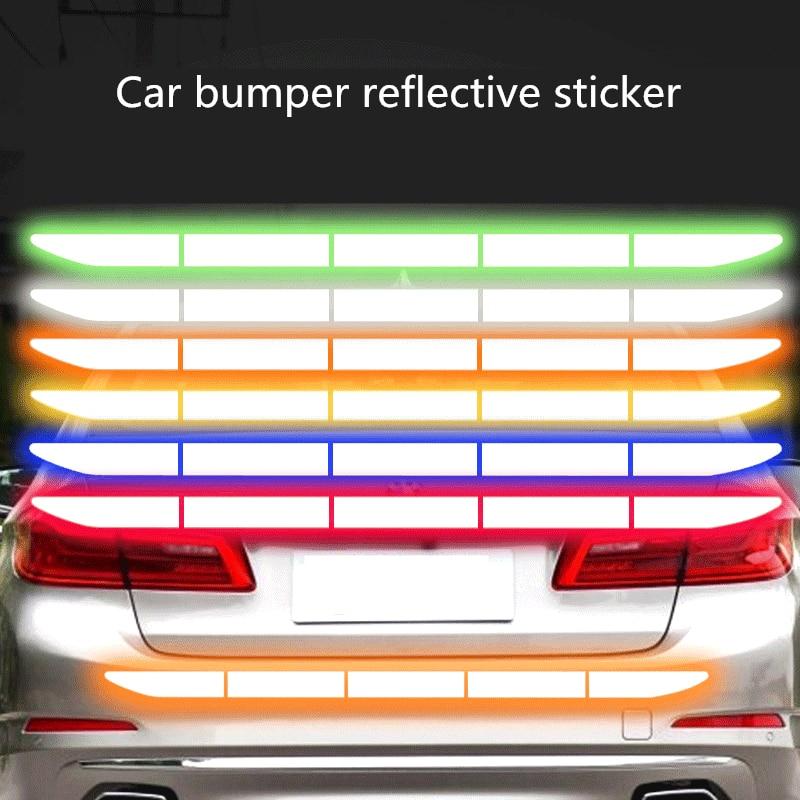Reflectante Reflektor Stiker Mobil Aksesoris Eksterior Perekat Pita Reflektif Refleks Eksterior Peringatan Strip Melindungi Body Mobil