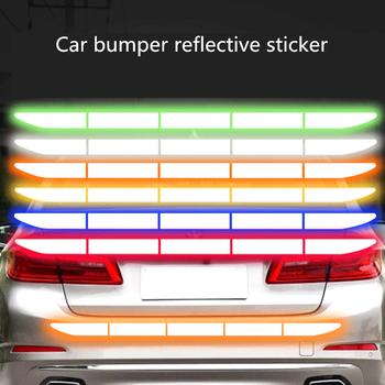 Reflectante reflektor naklejka akcesoria zewnętrzne do samochodu samoprzylepna taśma odblaskowa odblaskowy zewnętrzny pasek ostrzegawczy chroń karoseria tanie i dobre opinie CARSUN Paski odblaskowe