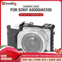 Jaula de cámara pequeña para SONY A5000/A5100, con agujeros de rosca para montaje de zapato, para Monitor de micrófono, para Vlogging 2226