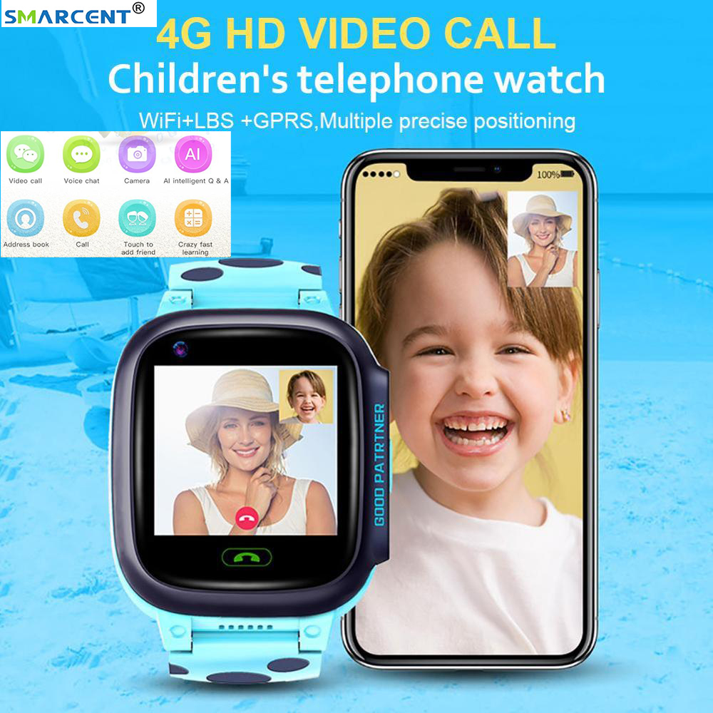 Y95 4G Kinder <font><b>Smart</b></font> Uhr HD Video Chat Anruf Mit AI Zahlung WiFi <font><b>GPS</b></font> Positioning Smartwatch Für Baby Kinder studenten image