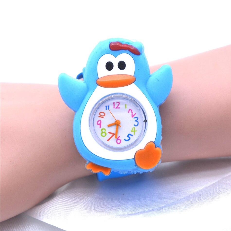 Cute Penguin Animal Watches Boys Kids Toddler Watch Silicone Clocks For Children Kinder Horloge