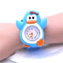 Nette Pinguin Tier Uhren Jungen Kinder Kleinkind Uhr Silikon Uhren für Kinder Kinder Horloge