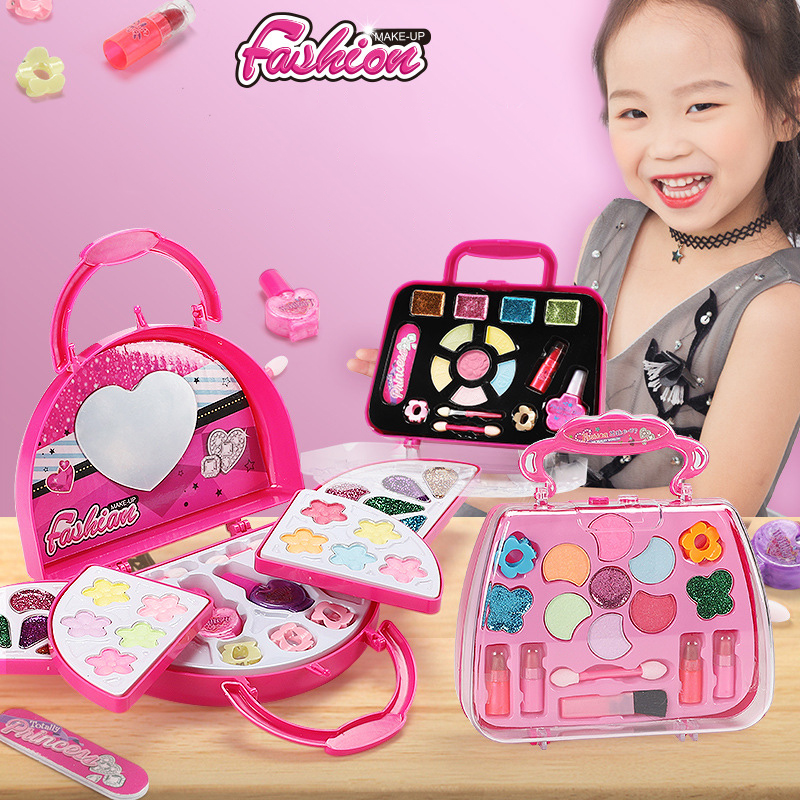 Kinder Make-Up Set Sichere Waschbar Kinder Make-Up Set Prinzessin Kosmetik Make up set Für Mädchen Box Prinzessin Schönheit Pretend Spielzeug für Mädchen