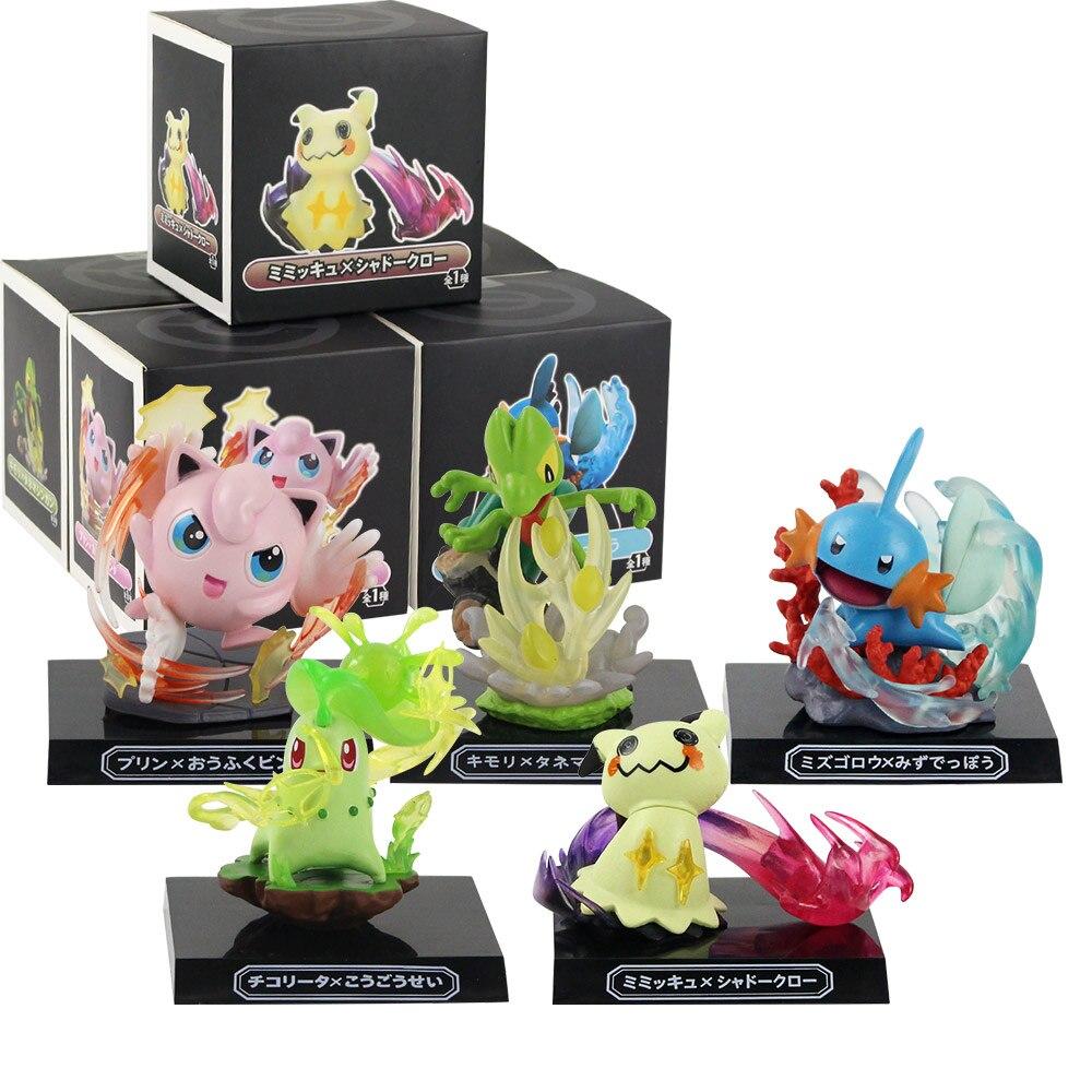 11cm Mimikyu Mudkip Chikorita Treecko Figure Anime Action Figure Anime Collectibles Toys