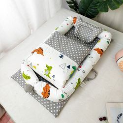 Tragbare Baby Krippe Mit Quilt Infant Kleinkind Wiege Bett Für Neugeborenen Kindergarten Reise Klapp Baby Nest Baby Bett Für Baby pflege