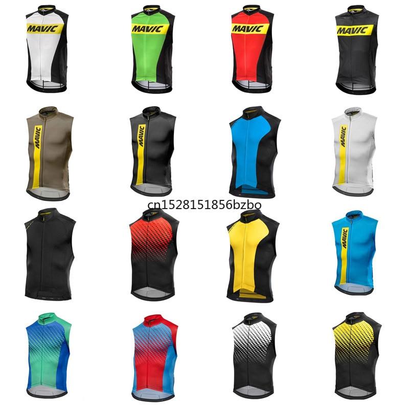 Best Price Cycling Jersey 2020 MAVIC Racing Bike sleeveless shirt mtb Bicycle Cycling Clothing Ropa Ciclismo Summer road bike Clothes D2103 4000885505078