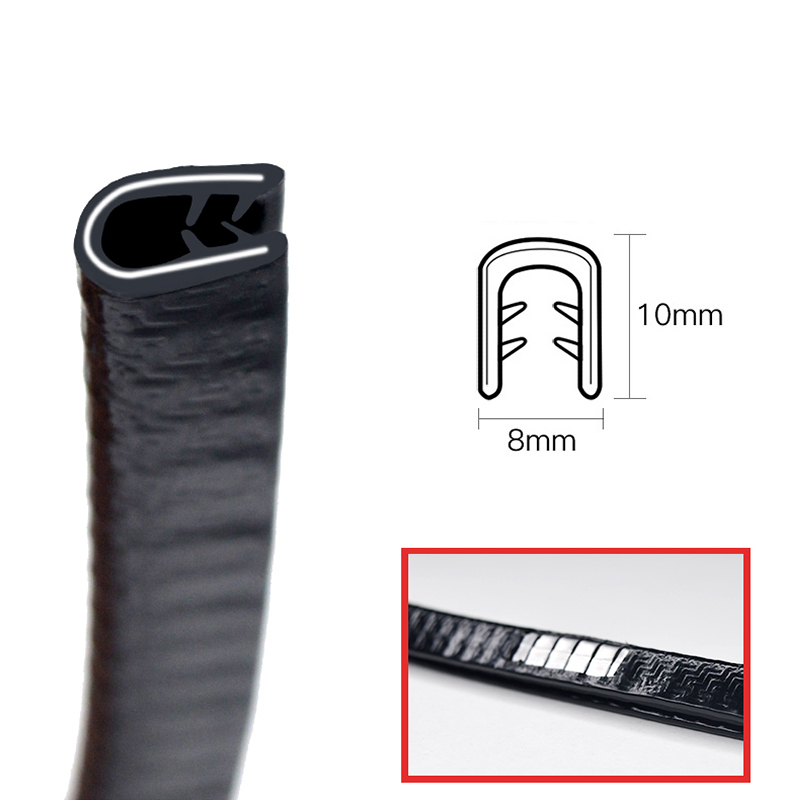 5m Universal Car Door Edge Scratch Protector Sealing Strip Guard Trim Automobile Door Stickers Decoration Protector Accessories