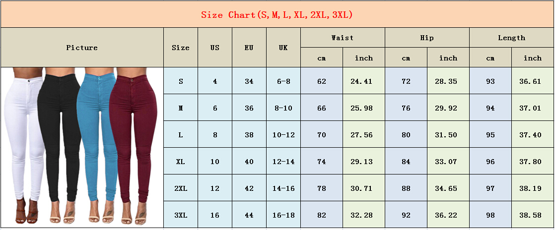 Hb14c307013db48a09858d18c9c459816f Goocheer 5 Colors Style Women Denim Skinny Leggings Pants High Waist Stretch Jeans Rose Pencil Trousers Plus Size S-3XL