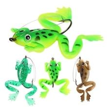 YUZI 4 Pcs/lot Rubber Frog Soft Bait 60mm 5.2g Fishing Lures 3 colors Plastic Fish with Hook Crank Bait Carp Fishing Tackle цена
