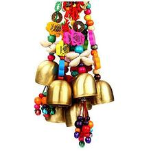 1Pcs New Garden Lucky Wind Chime Bell Creative Outdoor Home Pop Yard Copper Living Decor Fashion Brass Pendant Xmas Gift