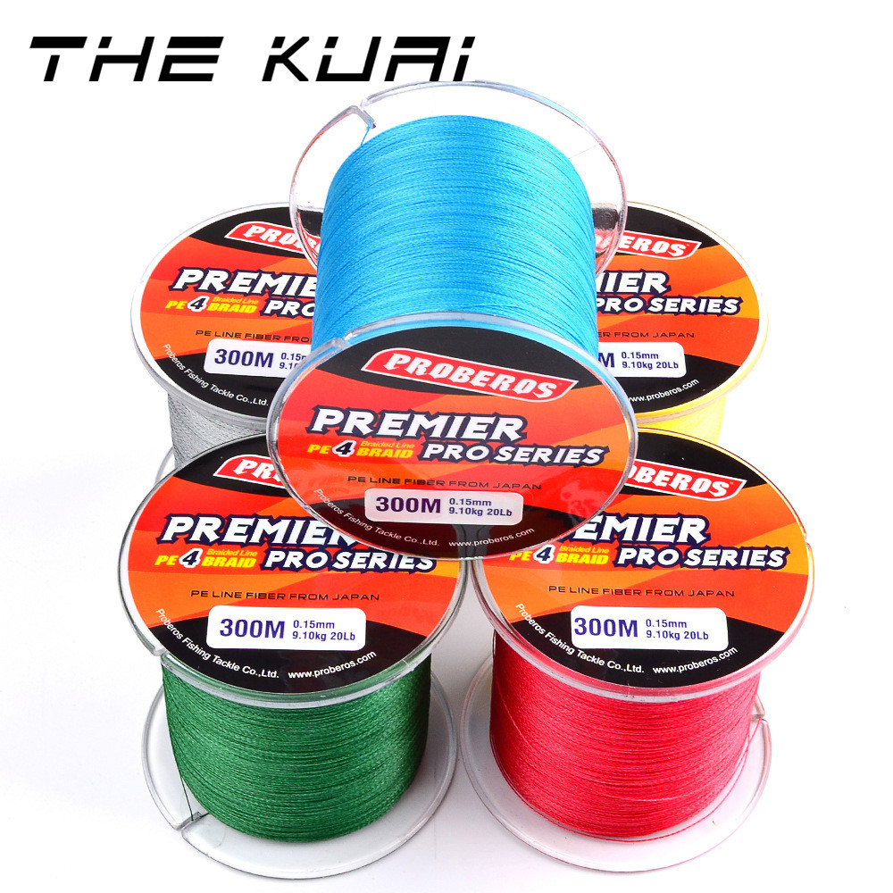 THEKUAI Fishing Lines 100M 300M 4 Strands Braided Wire 6-100 LBS  PE Multifilament Line Rope Cord 100% Super Power