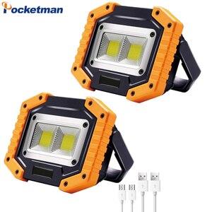 100W Tragbare LED Arbeit Licht Wasserdichte Scheinwerfer USB Aufladbare Flutlicht COB LED Arbeit Lampe 8000LM Scheinwerfer Notfall