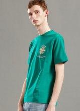 Мужская модная повседневная брендовая простая зеленая футболка