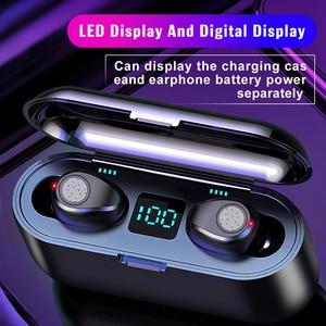 Беспроводные наушники, Bluetooth наушники 8D, Hi-Fi гарнитура с кнопкой управления, наушники-вкладыши с шумоподавлением, 2000 мАч, зарядный бокс с мик...
