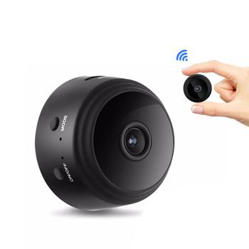 Kamera ochrony A9 kamera noktowizyjna o wysokiej rozdzielczości 1080P do domowej kamery monitorujące z wifi tanie i dobre opinie 1280x720 CN (pochodzenie) WLAN 1 Mega lub mniej Waterproof Shockproof Film Camera Camera Only Unisex
