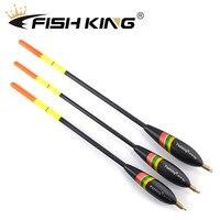 Barguzinsky Fir Bóia de pesca PEIXE REI 3 unidades/pacote 1.5 + 4.0g/1.5 + 5.0g/1.5 + 6.0g Balsa Bobber Cortiça Bóia Verticais Bóia De Pesca Para A Carpa