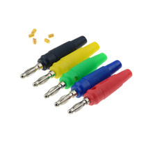 1 Buah 4 Mm Plug Tembaga Murni Emas Plated Musik Speaker Kabel Kawat Pin Banana Plug Konektor(China)