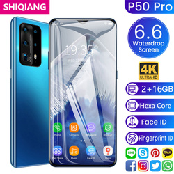 SOYES P50 Pro Mobile Phone Android 2G+16GB Face ID 6.6inch Full Screen Cellphone Support 2 Sim Card Global Language Smartphones