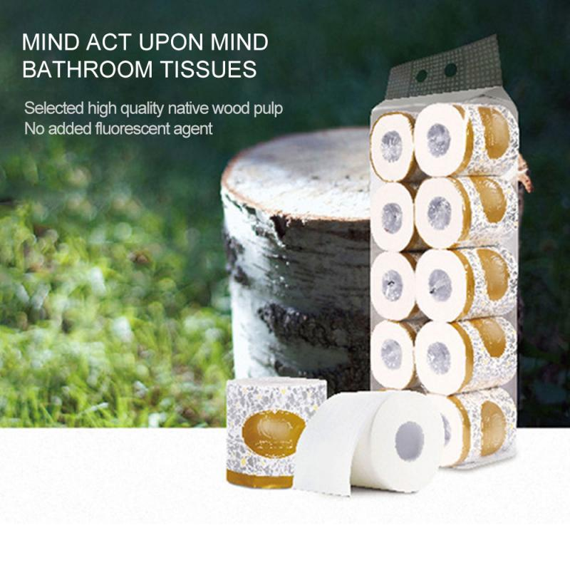 1/10 Roll Toilet Paper Bulk Rolls Bath Tissue Bathroom White Soft 110g Three-layer Smooth Tissue Household Toilet Paper
