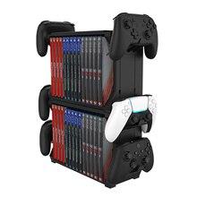 Bevigac Universal Game disc Storage Tower Holder Rack Controller Organizer per PS5 Xbox Series S X accessori Nintendo Switch